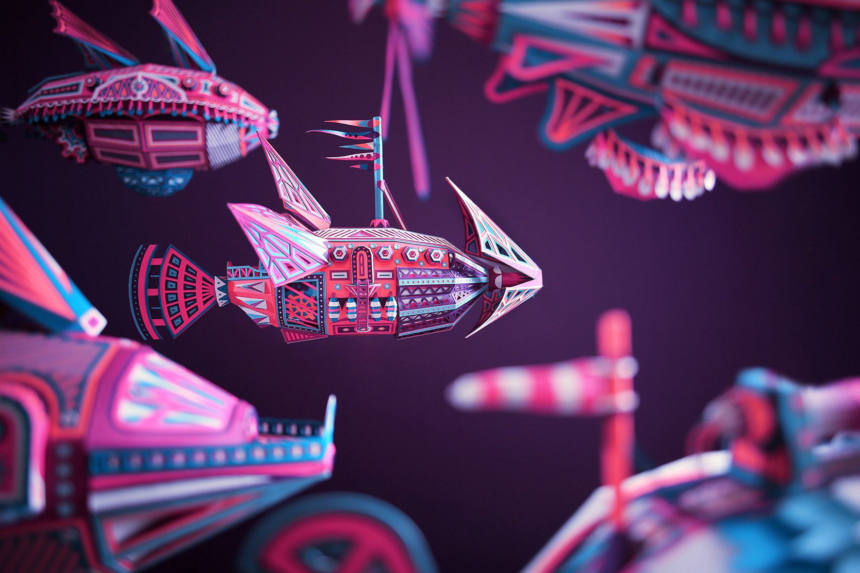 A Fleet of Magnificent Paper Aircraft by Zim & Zou Heads for an Unknown World in 'Exodus'