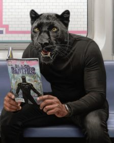 Animal-Human Hybrids Spotted on New York Subway in Surreal Paintings by Matthew Grabelsky