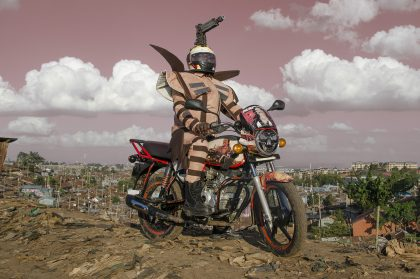 Nairobi's Motor Taxi Drivers Sport Extravagant Costumes in 'Boda Boda Madness'