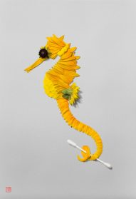 Floral-and-Frond Compositions Shape Energetic Wildlife by Raku Inoue