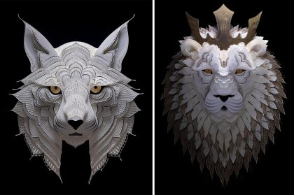 Hundreds of Intricately Cut Layers Compose Impeccably Detailed Wildlife Sculptures by Patrick Cabral