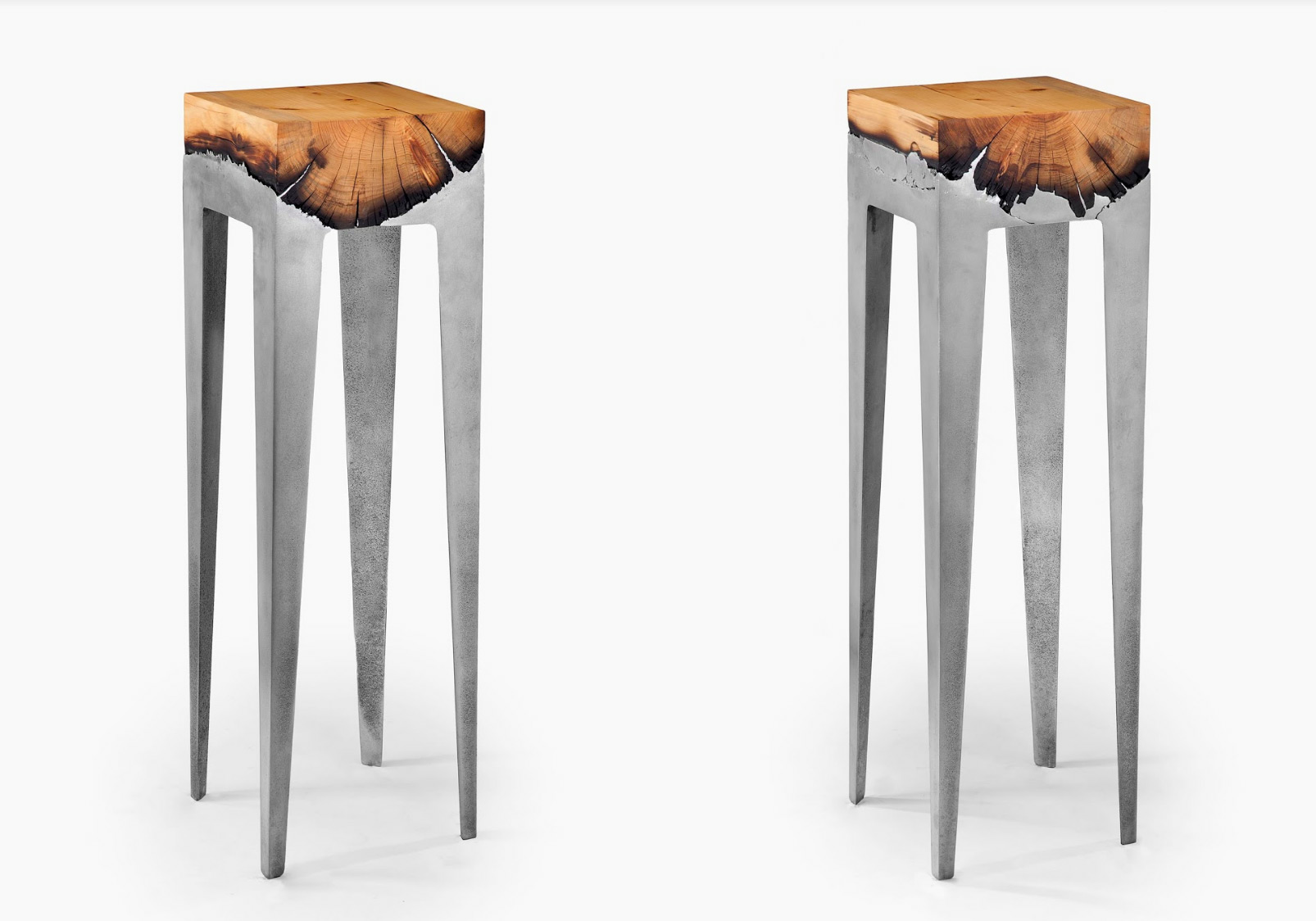 Sleek Furniture Collection by Hilla Shamia Harmonizes Cast Aluminum and Natural Wood