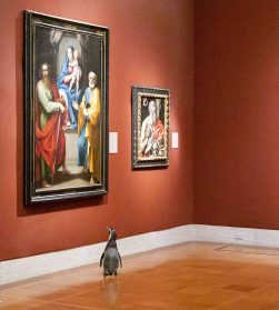 Tuxedoed Penguins Plunge into A Private Tour of the Nelson-Atkins Museum of Art