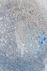Hundreds of Photos of the New York Sky Pinned to a Massive, Spherical Sculpture by Sarah Sze
