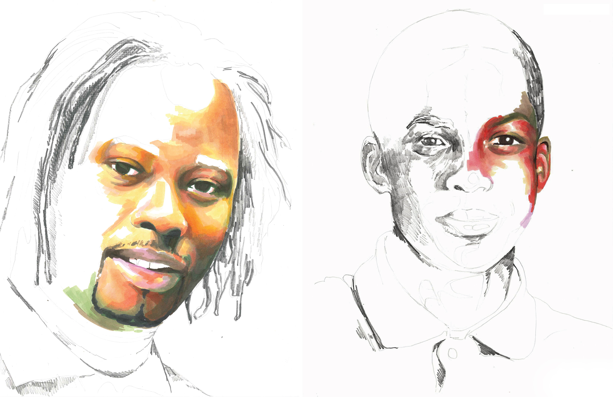 In Artist Adrian Brandon's Incomplete Portraits, A Year of Life Equals One Minute of Color