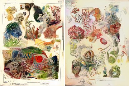 Neural Networks Create a Disturbing Record of Natural History in AI-Generated Illustrations by Sofia Crespo