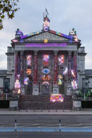 Cloaked in Neon, Tate Britain Celebrates Diwali Through an Eclectic Technicolor Installation