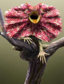 Meticulous Digital Works Layer Petals, Leaves, and Natural Textures into Fantastic Creatures