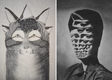 New Perspective-Bending Collages by Lola Dupré Distort and Reconfigure Pets and Portraits