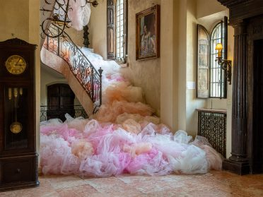 Swaths of Tulle Billow from Site-Specific Installations by Ana María Hernando