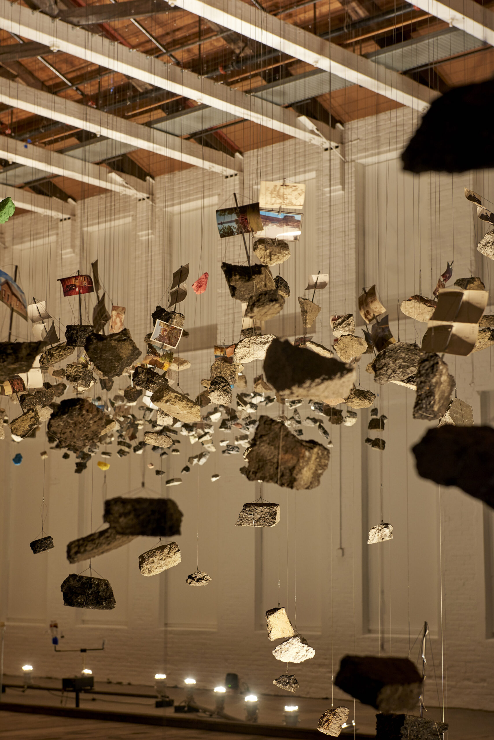 A Sprawling Installation Explores the Power of Protest as It Floats Above a MASS MoCA Gallery