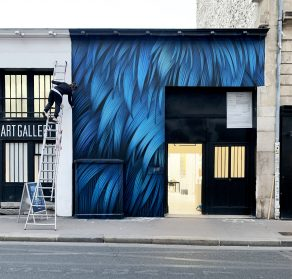 Abstract Clusters of Feathers Ruffle Across Vibrant New Murals by Adele Renault