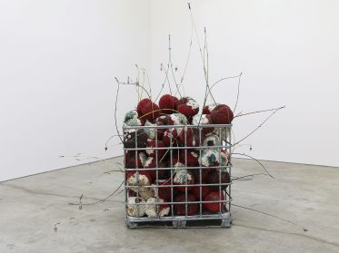 Precious Gemstones Cloak Giant Fruit Sculptures in Gleaming Pockets of Decay