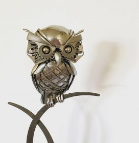 Found Silverware and Scrap Metal Are Welded into Lively Sculptural Creatures by Matt Wilson