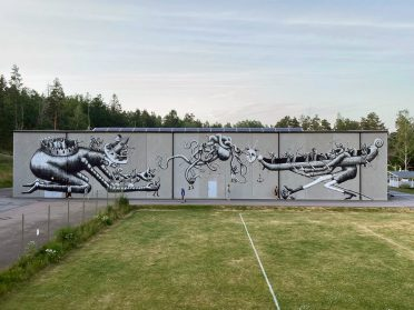 Phlegm's Monochromatic Comic Book Characters Explode Onto Walls Across Europe