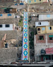13 Staircases Blanketed with Prismatic Murals Evocative of Andean Textiles Run Through Lima's Hills